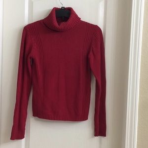 Long-sleeved Red Sweater